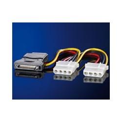 Câble adaptateur en Y, S-ATA / 3x 5,25