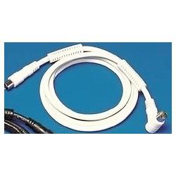 Câble coaxiale M/M blanc RG59 filtre 100hz 2m50