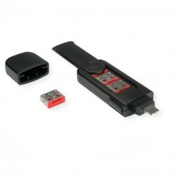 Bloqueur de port USB Type A, 4x verrouillage et 1x clé ROLINE