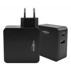 Chargeur intelligent USB-PD 60 W avec port USB et alimentation de type C