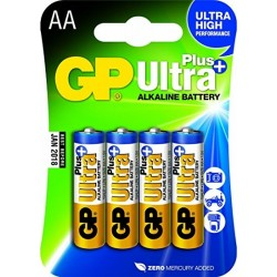 Blister 4 piles AAA - Micro ULTRA PLUS Alkaline GP
