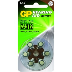 Blister 6 piles auditives ZA13 - PR48 - Orange GP
