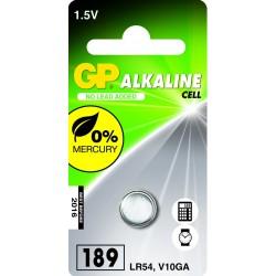 Blister 1 pile 186 - V12GA / L 1142 -LR43 alkaline GP
