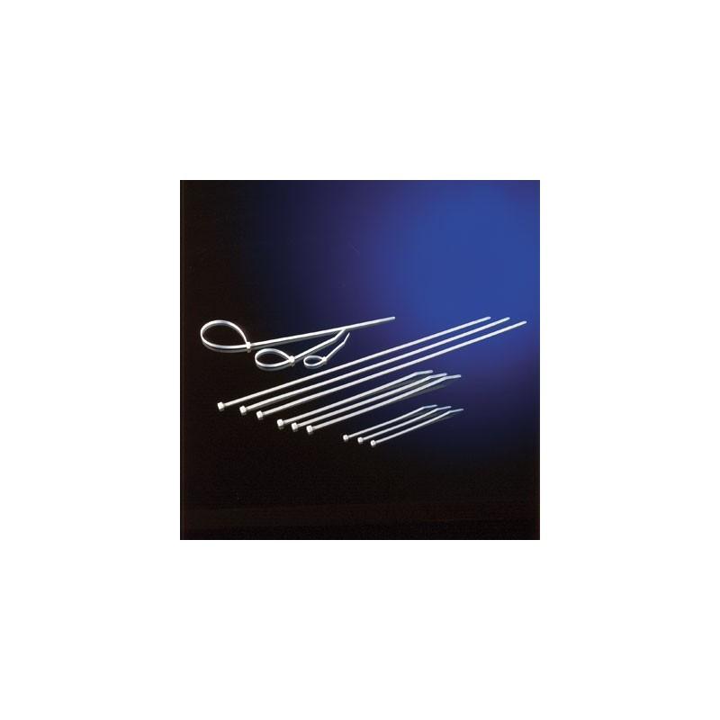 Collier de serrage  25cm 4,8mm coudée